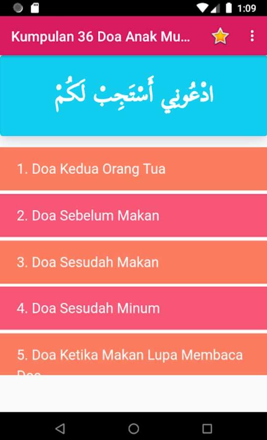 List doa anak muslim