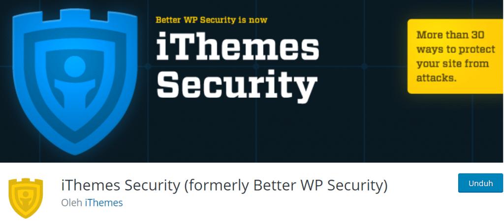 iThemes Security plugin keamanan wordpress terbaik