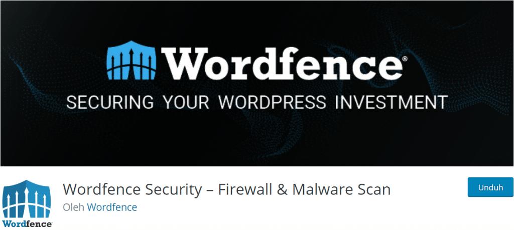 Wordfence Security plugin keamanan wordress terbaik